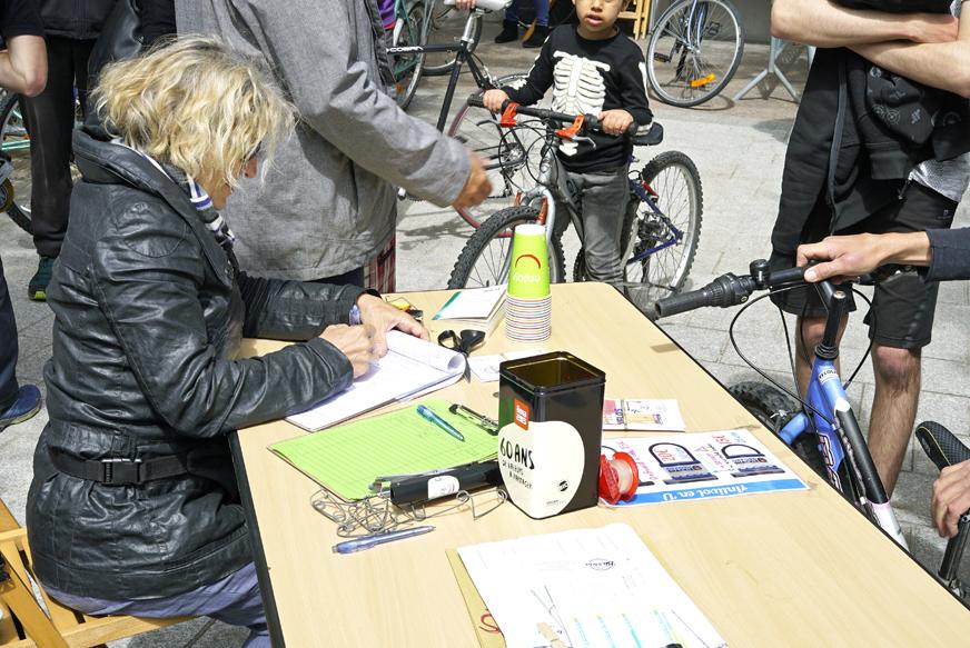 Bourse aux vélos du 18 Mai 2019 - Accueil et vente des vélos