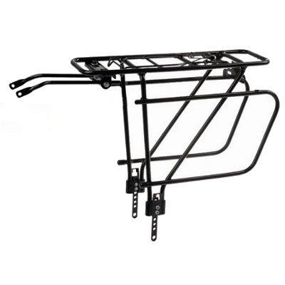 Porte bagage avec rails pour sacoches vélo 24 à 29 pouces